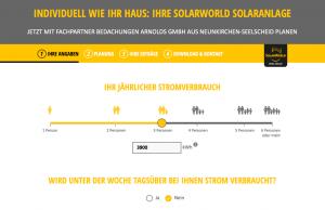 SolarWorld Solarstromrechner